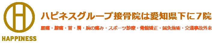 ハピネスグループ接骨院は愛知県下に7院